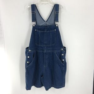 Denim overall shorts 100% Cotton blue Plus Size